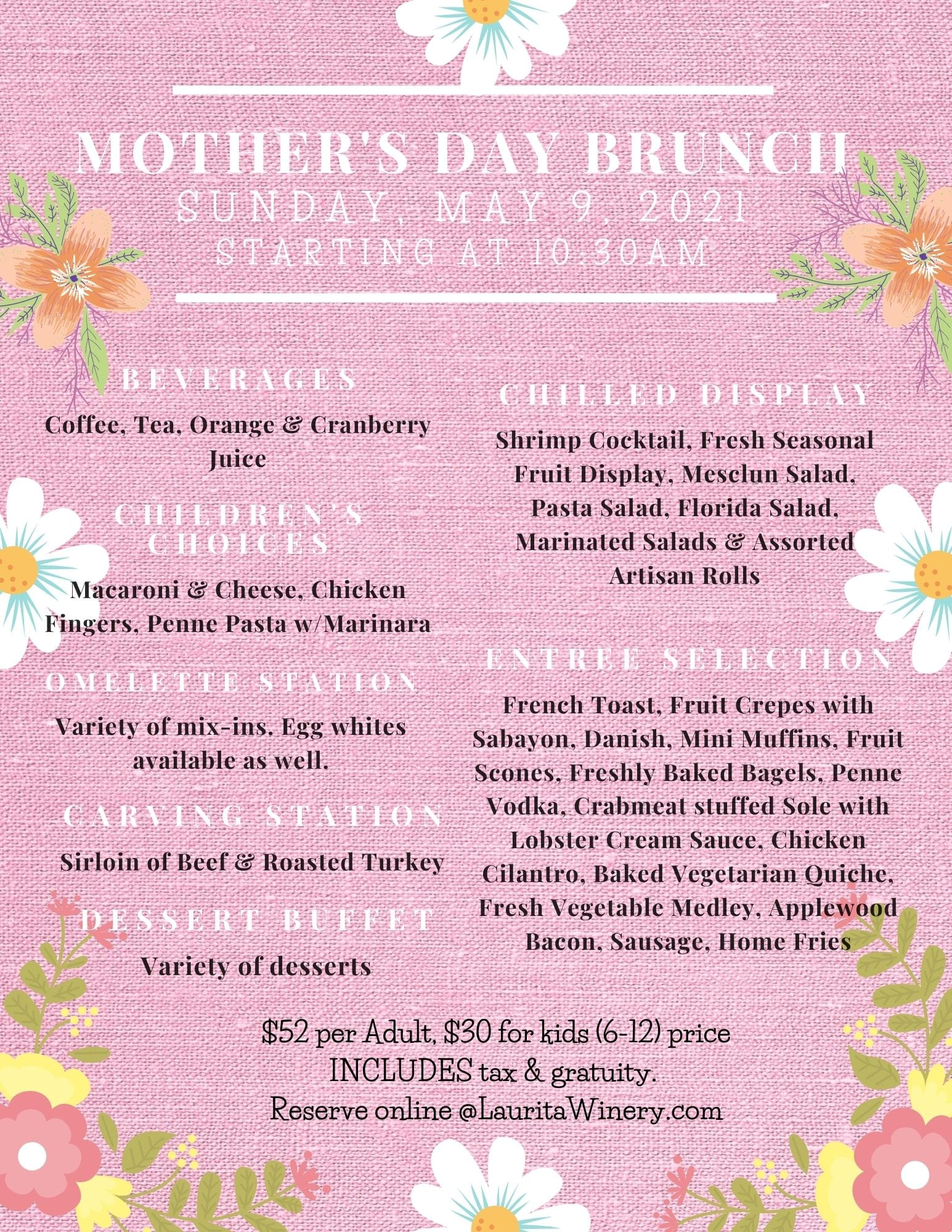 Mothers Day brunch 2021