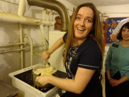 Making the Mashed potatos