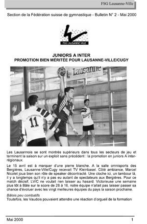 Journal 2000 – Juin