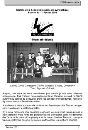Journal 2001 – Février