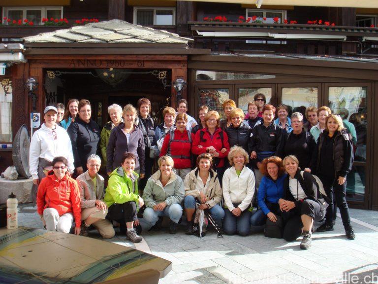 2012 – Sortie de la section Féminine à Zermatt (25 et 26 août)