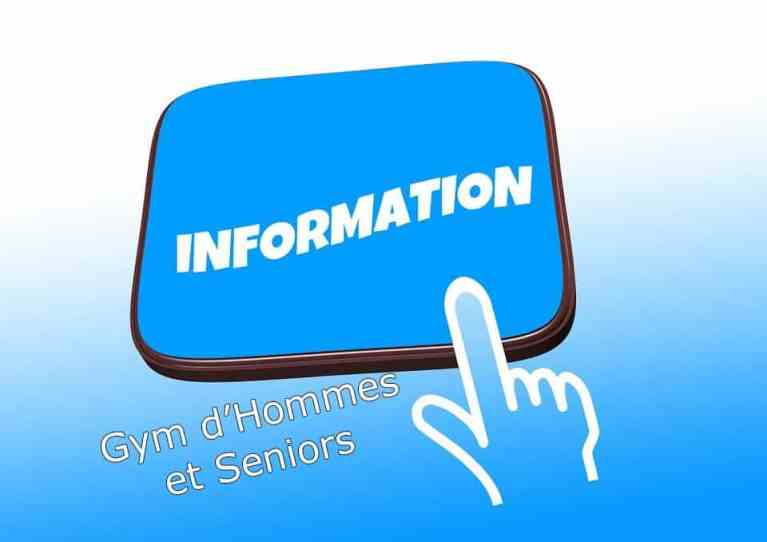 La section Gym d'Hommes et Seniors en février