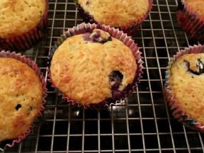 skinny cupcakes with blueberries