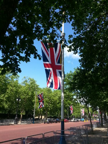Flying the flag on the Mall