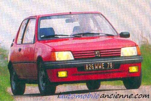 peugeot 205 xs 1986 1993 l 39 automobile ancienne. Black Bedroom Furniture Sets. Home Design Ideas
