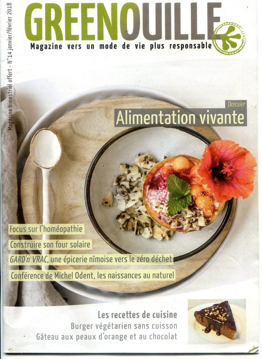 Couverture magazine Greenouille