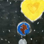 Lune Terre Soleil Univers le Coeur