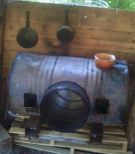 rocket stove four plancha