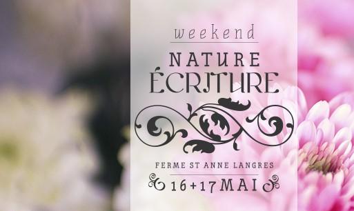 week-end d'écriture 16-17 mai 2015