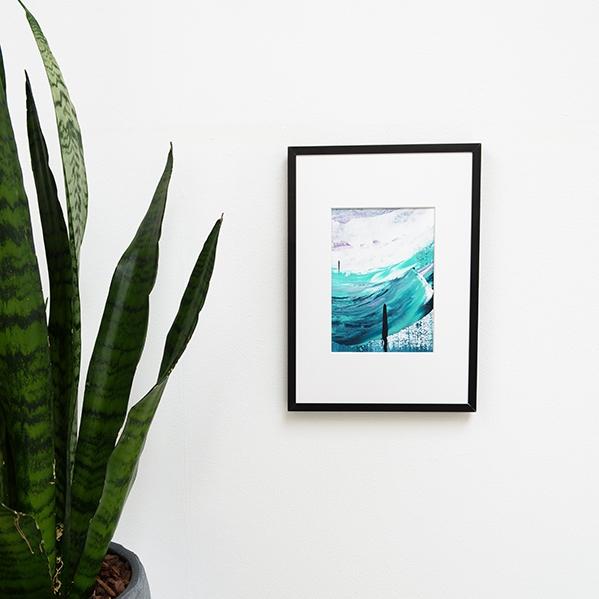 Hold Steady – acryl op papier ingelijst