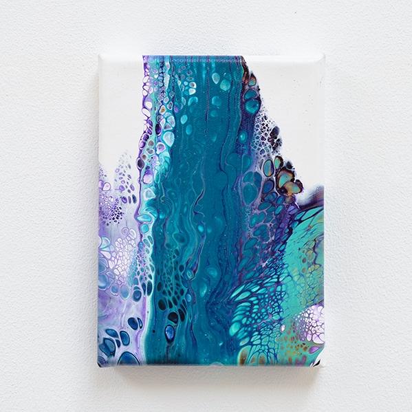 Coral – klein schilderij, acryl op doek.