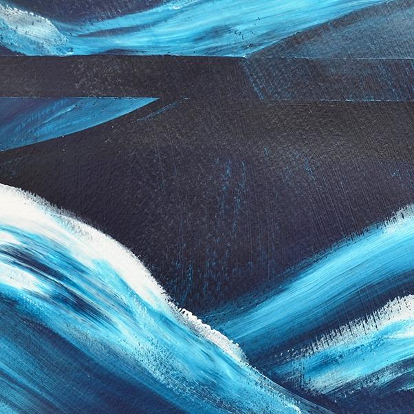 Abstract Ocean – Acryl op papier ingelijst