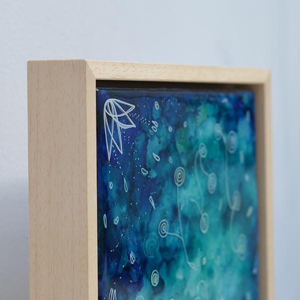 Origins – resin on panel in frame