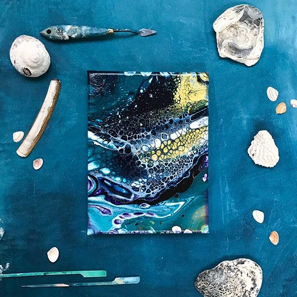 Surface – klein kunstwerk, acryl op canvas