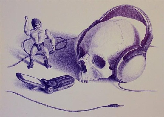 Ballpoint Pen Drawings & Sketches (2)