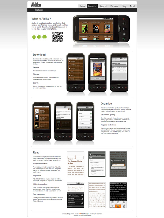 30+ Android Applications Website Designs For Your Inspiration