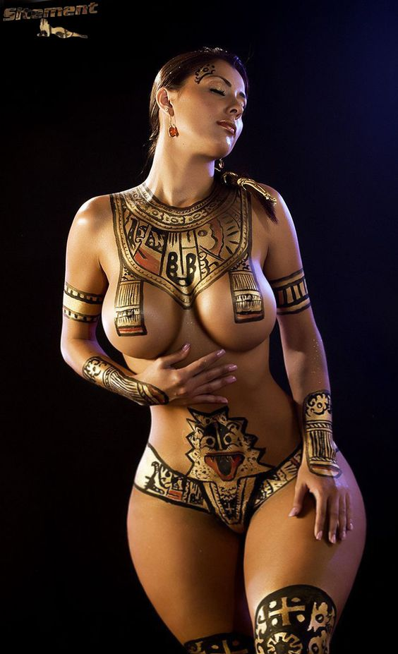 cleopetra halloween body paint example