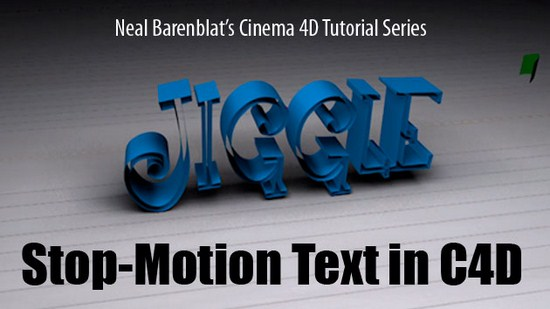 tutorial: stop motion text with cinema 4D