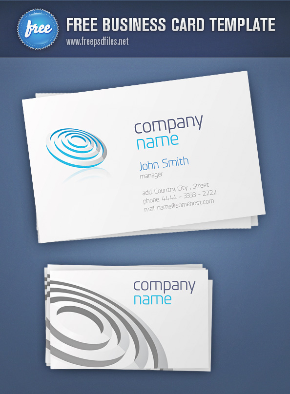 free template business card