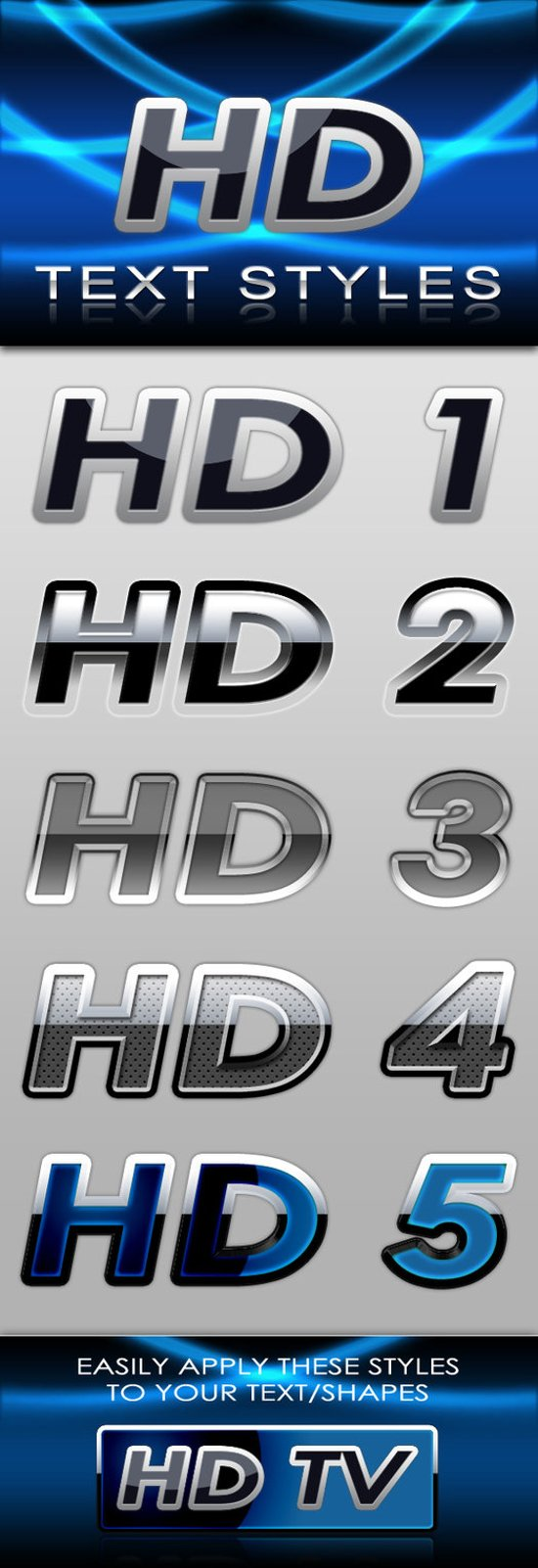 HD Text Styles