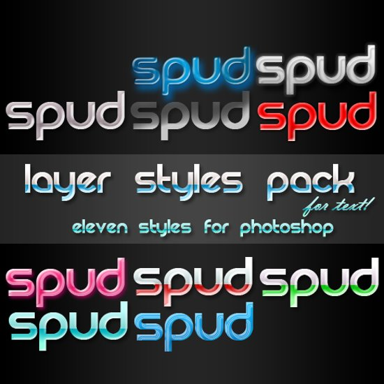 Photoshop Text Style Pack
