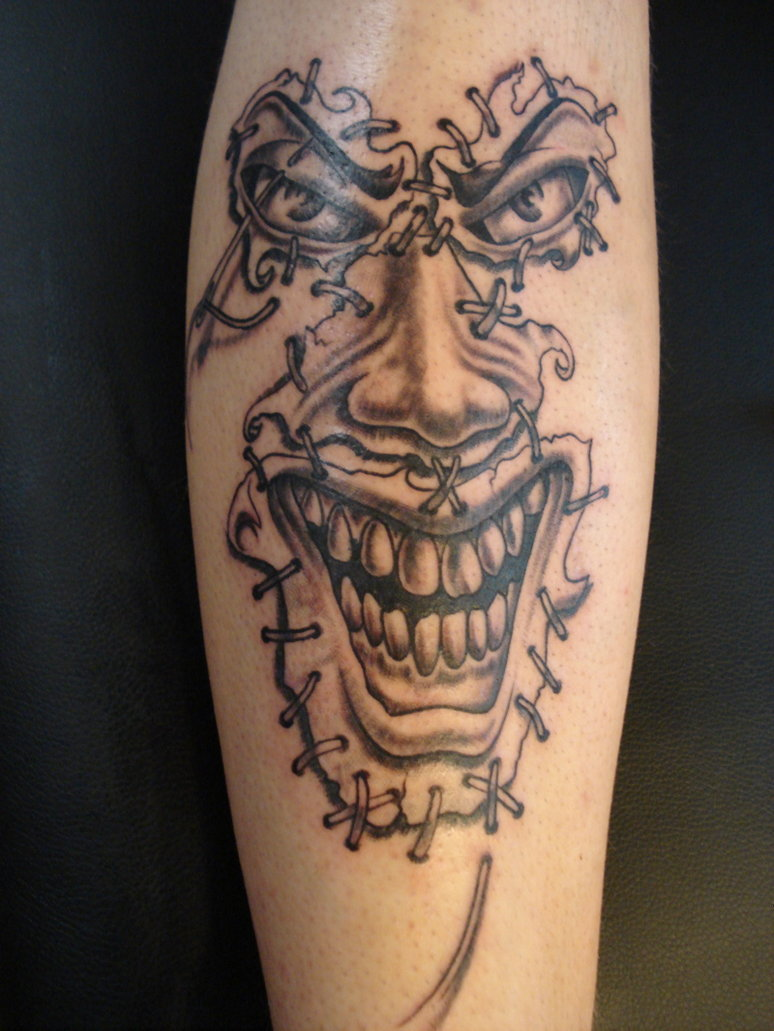15 Full Sleeve Scary Joker Tattoo Design Ideas