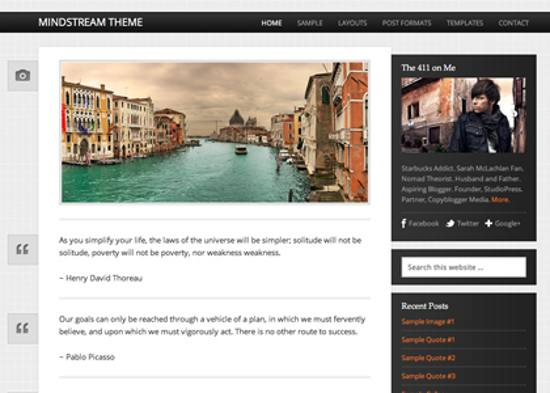 mindstream responsive wordpress theme
