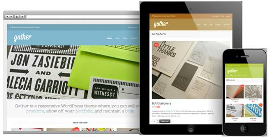 gather! responsive wordpress theme