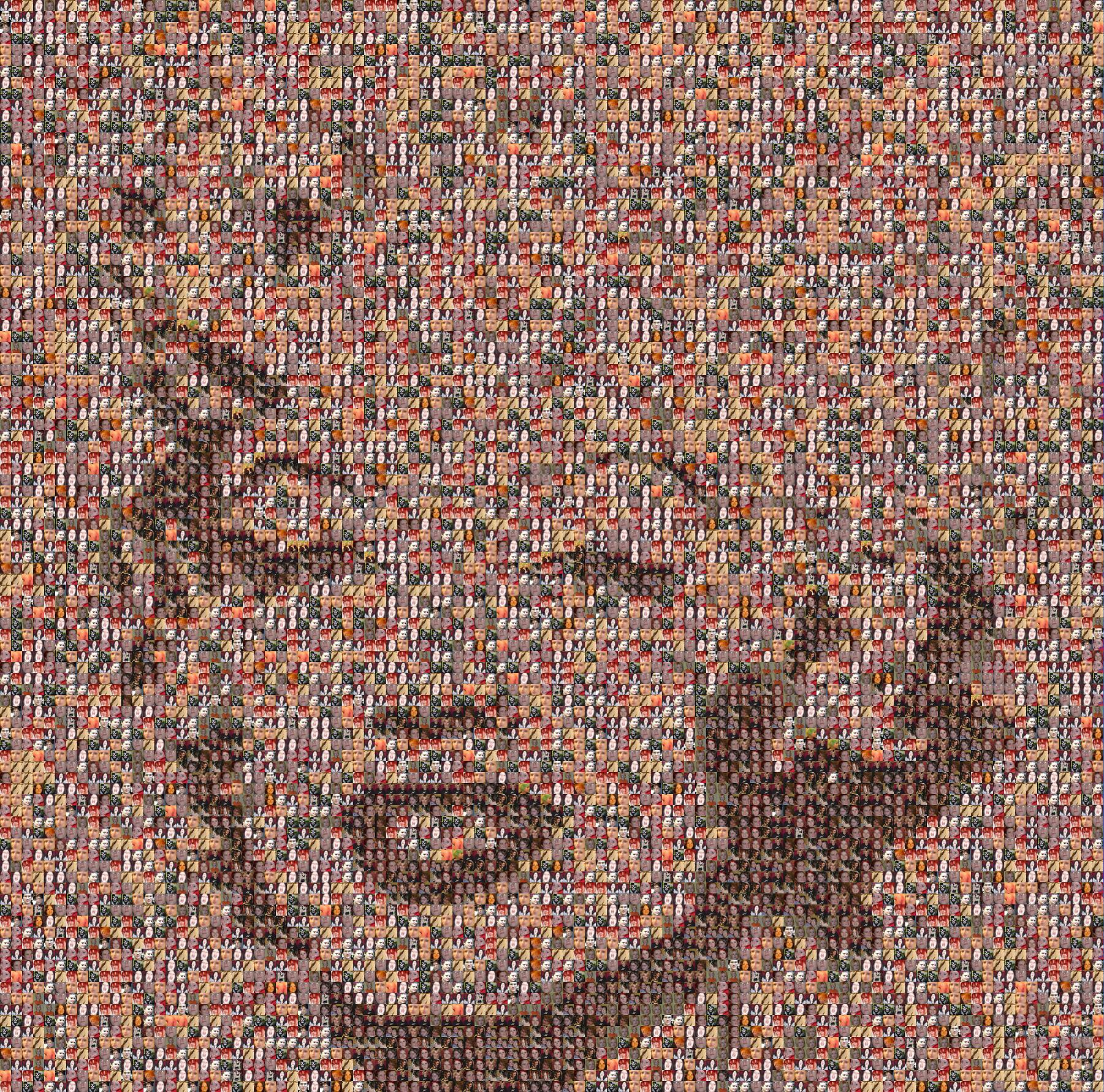 30  incredible examples of photo mosaic portraits