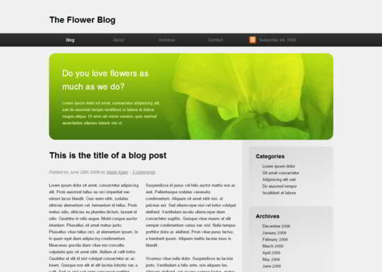 The Flower Free HTML5 Template