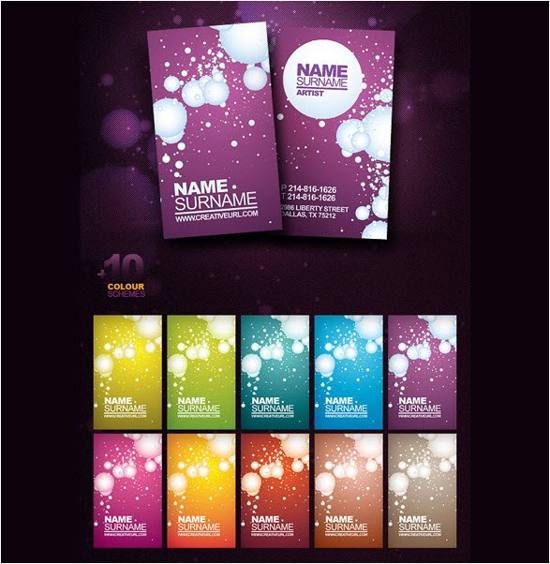 Artist Business Card Templates Set PSD for free download