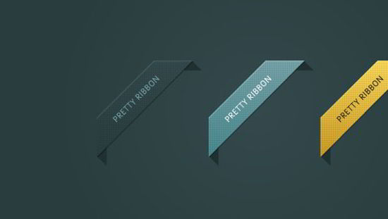 PSD Colored Vector Ribbons