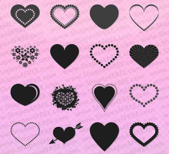 free Photoshop Hearts Shapes