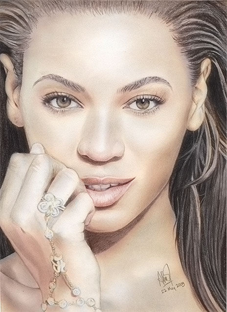 30 Stunning Colored Pencil Art Drawings of Cute Celebrities