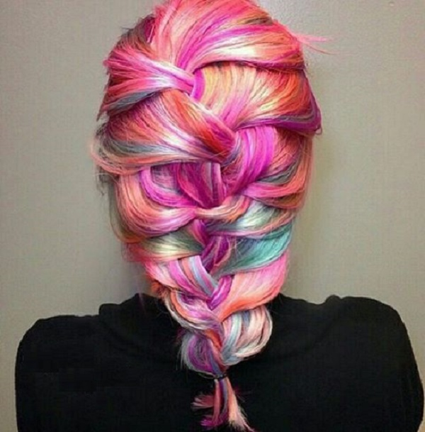 Colorful Hair style Ideas and Photo Choices for Parties1.6