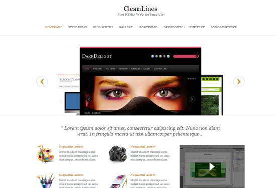 CleanLines Website Template