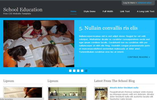 School Education Free Website Template