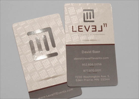 Level 11 Business Card Design