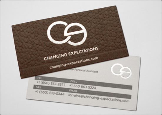 Changing Expectations Business Card Design