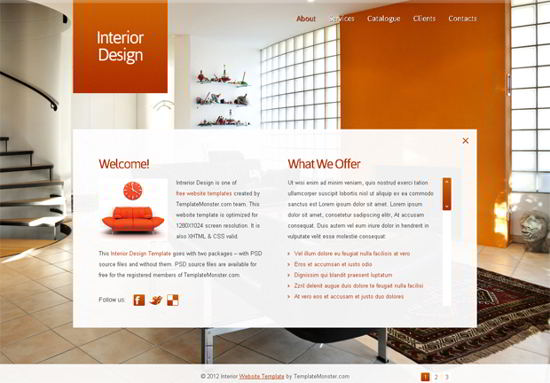 Free Full Animated Template for Interior Design Website