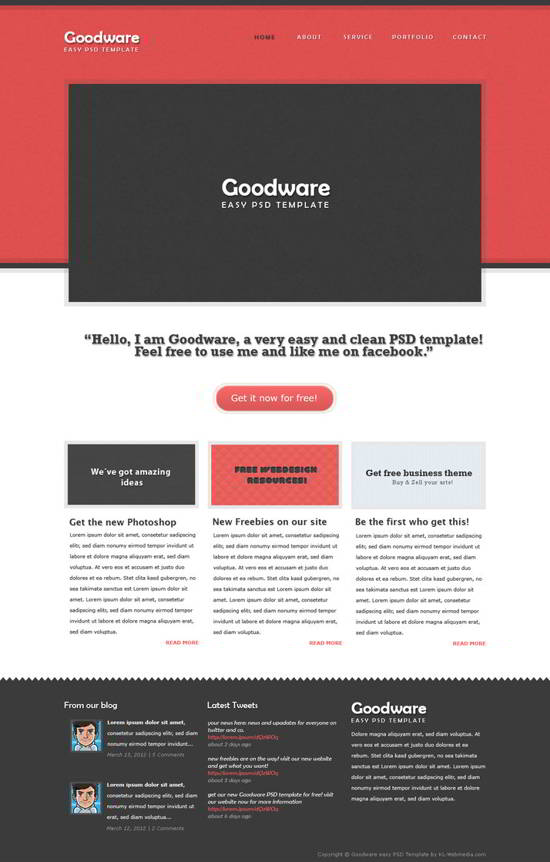 Goodware easy PSD template