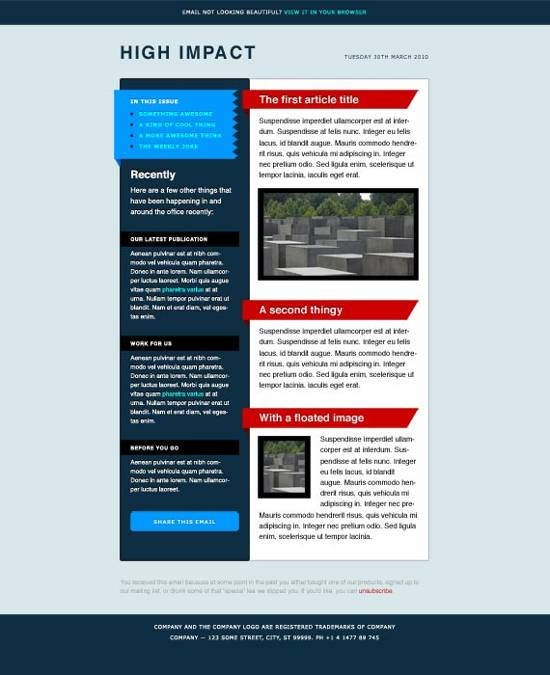 attractive email templates