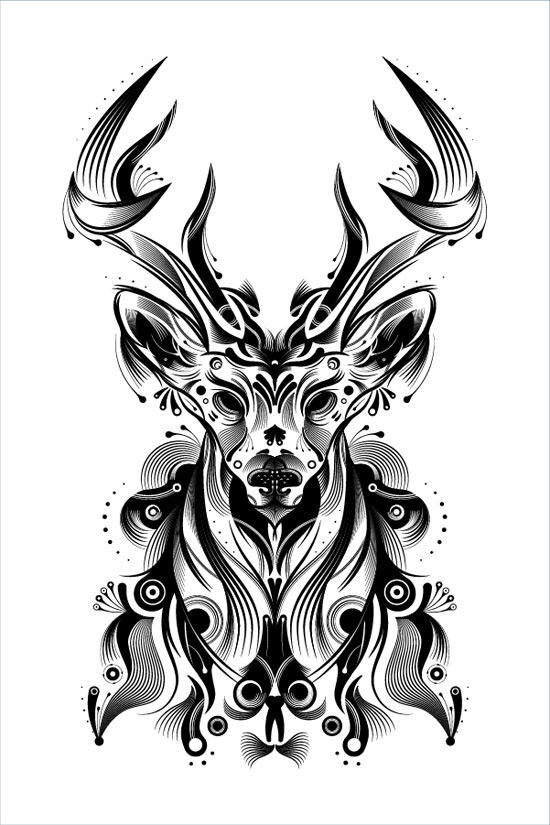 Create a Stylish Deer with Brushes