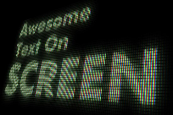 Editable On Screen Text Effect