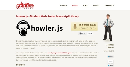 Howler - JavaScript Library For Web Audio