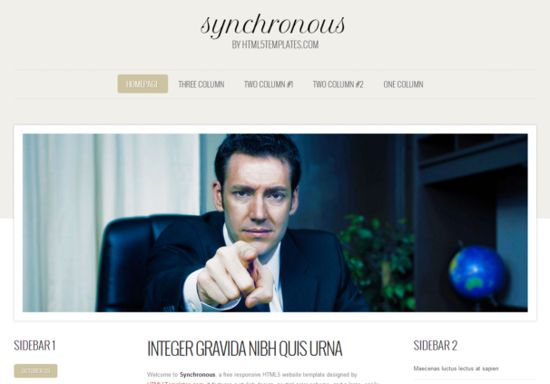 Html5 Template Synchronous