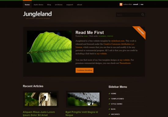 jungle Html5 Template