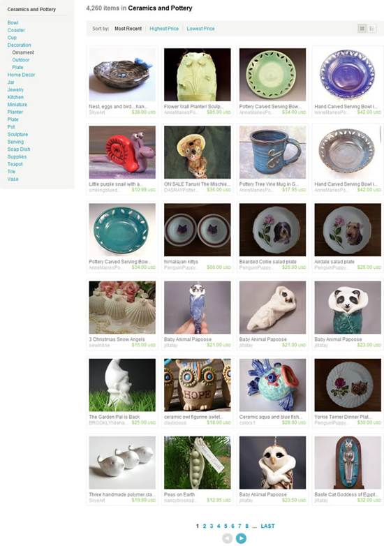 etsy gallery page design
