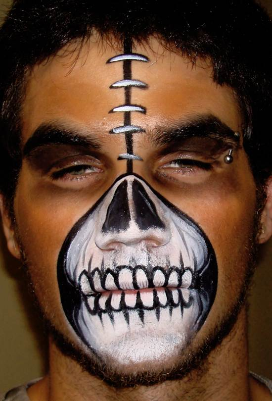 scary halloween face paintings