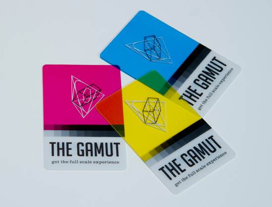 the gamut business card design